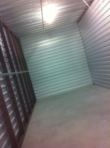 This is what an empty 10x20 storage locker looks like. Isn't it wonderful?